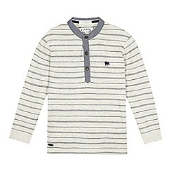 J by Jasper Conran - Boys' cream striped grandad top