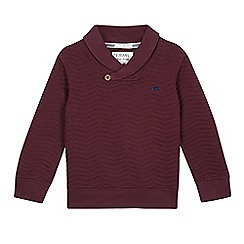 J by Jasper Conran - Boys' red stitch detail shawl neck top