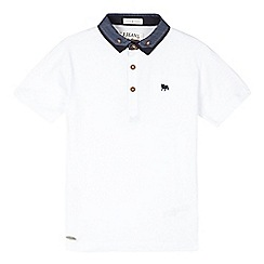 J by Jasper Conran - Boys' white polo top