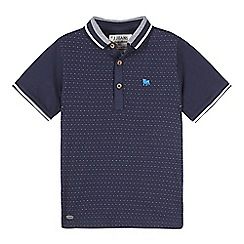 J by Jasper Conran - Boys' navy jacquard dot polo shirt
