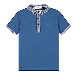 J by Jasper Conran - Designer boy's blue gingham collar polo shirt