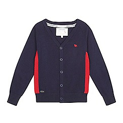 J by Jasper Conran - Boys' navy panelled cardigan