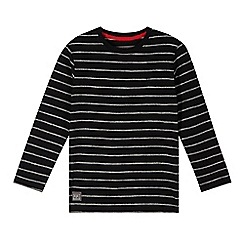 RJR.John Rocha - Designer boy's black textured stripe top
