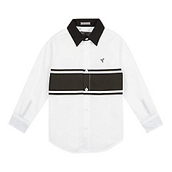 RJR.John Rocha - Designer boy's white placement striped shirt