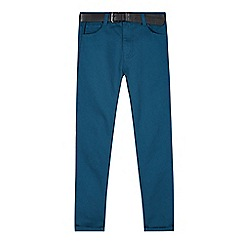 RJR.John Rocha - Designer boy's turquoise belted cord trousers