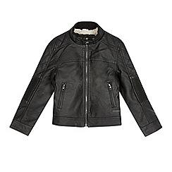 RJR.John Rocha - Designer boy's black borg lined biker jacket