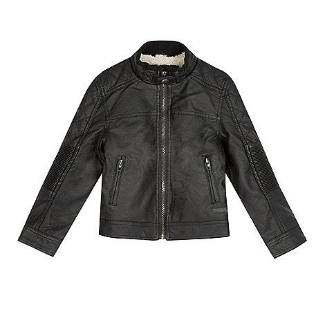RJR.John Rocha - Designer boy+s black borg lined biker jacket