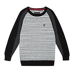 RJR.John Rocha - Designer boys grey marl knit block sleeved jumper