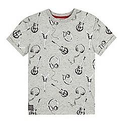 RJR.John Rocha - Designer boy's grey guitar printed t-shirt