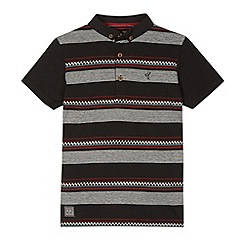 RJR.John Rocha - Boy's red striped button down polo shirt