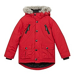 RJR.John Rocha - Boys' red faux fur hood parka jacket