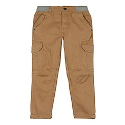 Mantaray - Boy's tan ribbed waist cargo trousers