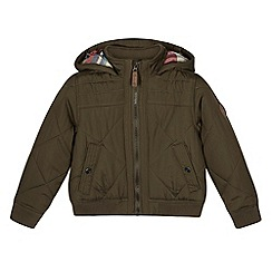 Mantaray - Boy's khaki padded bomber jacket