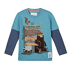 Mantaray - Boy's turquoise bear signpost top