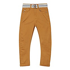 Mantaray - Boy's tan belted chinos