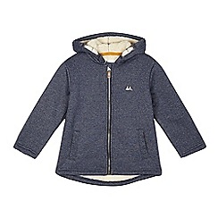 Mantaray - Boys' blue fleece lined hoodie jacket