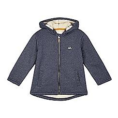 Mantaray - Boys' blue fleece lined hoodie jacket
