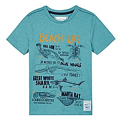 Mantaray - Boy's light turquoise 'Beach Life' t-shirt