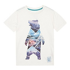 Mantaray - Boy's off white bear woods print t-shirt