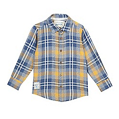 Mantaray - Boys' navy check shirt