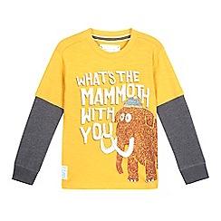 Mantaray - Boys' dark yellow mammoth long sleeved top