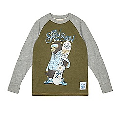 Mantaray - Boys' khaki snowboarding bear top