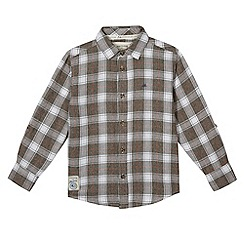 Mantaray - Boy's grey large checked shirt