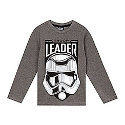 Star Wars - Boys' grey troop leader top