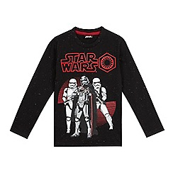 Star Wars - Boys' black Stormtroopers top
