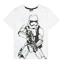 Star Wars - Boys' white Storm Trooper t-shirt