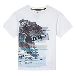 bluezoo - Boy's white technical dinosaur print t-shirt