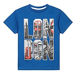 bluezoo - Boy's blue London scene print t-shirt