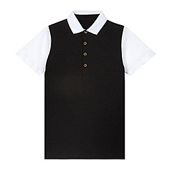 bluezoo - Boy's black polo shirt