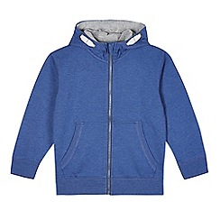 bluezoo - Boy's blue zip through hoodie