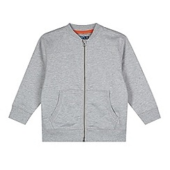 bluezoo - Boy's grey zipped baseball bomber jacket