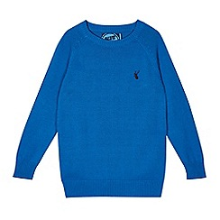 bluezoo - Boy's blue plain jumper