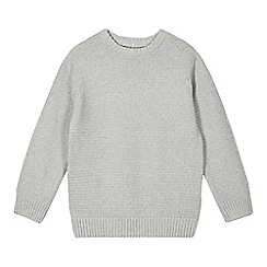 bluezoo - Boy's grey textured stripe jumper