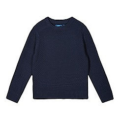 bluezoo - Boy's navy basket weave jumper