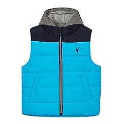 bluezoo - Boy's light blue padded gilet