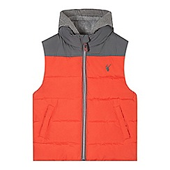 bluezoo - Boy's red cut and sew padded gilet