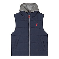 bluezoo - Boy's navy cut and sew padded gilet