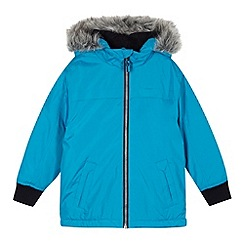 bluezoo - Boy's blue faux fur hood coat