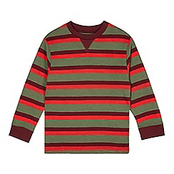 bluezoo - Boy's khaki multi striped top