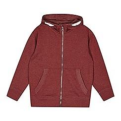 bluezoo - Boy's wine zip through hoodie