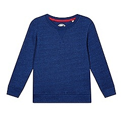 bluezoo - Boy's blue twisted yarn sweatshirt