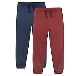bluezoo - Pack of two boy's navy and wine jogging bottoms