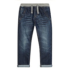 bluezoo - Boy's blue ribbed waistband jeans