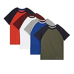 bluezoo - Pack of four boy's navy raglan t-shirts