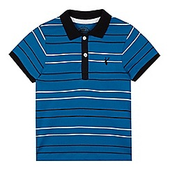 bluezoo - Boy's blue striped knitted collar polo shirt