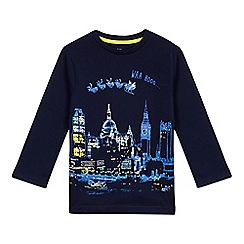 bluezoo - Boys' navy Christmas 'London' top